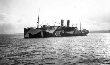 archive bateau camoufflé dazzle painting