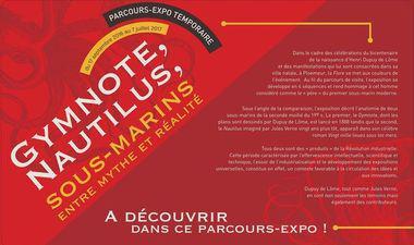affiche exposition gymnote nautilus au sous-marin flore