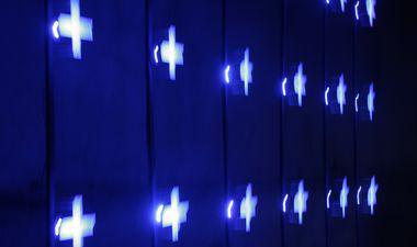 lumière bleue dans le musée du sous-marin flore à lorient